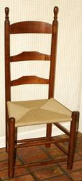 090563 LADDER BACK SIDE CHAIRS TWO NONMATCHING