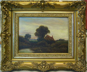 Pair of late 19th c oil on canvas landscapes