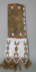 Native American Sioux sinew sewn beaded hide pipe bag ca 1870s
