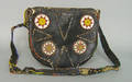 Native American beaded hide purse probably Plains ca 1900