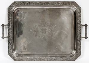 MERMOD JACCARD  CO SILVERPLATE TRAY