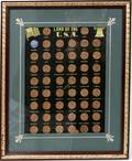 080593 LAND OF THE USA 1976 50 PENNIES FRAMED