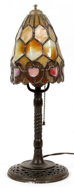 DUFFNER  KIMBERLY LEADED GLASS LAMP EARLY 20TH C