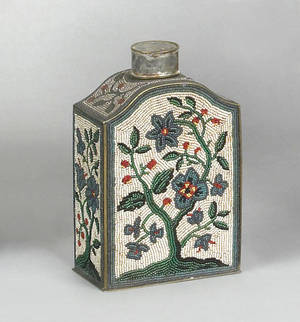 Brass tea caddy ca 1800
