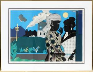 ROMARE BEARDEN COLOR LITHOGRAPH