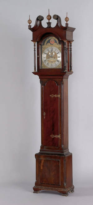 Pennsylvania Chippendale walnut tall case clock ca 1775