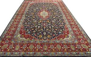 SIGNED PERSIAN TABRIZ HAND WOVEN WOOL CARPET