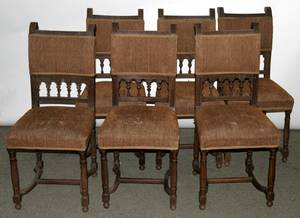 090059 FRENCH LOUIS XVI STYLE WALNUT SIDE CHAIRS