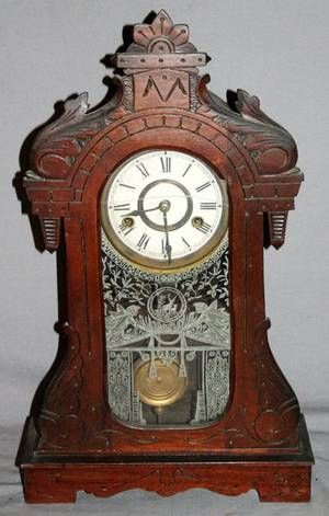 080044 SETH THOMAS EASTLAKE STYLE MANTLE CLOCK H 20