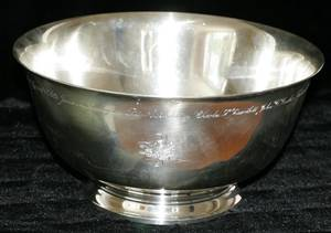 072052 TIFFANY  CO STERLING SILVER PUNCH BOWL