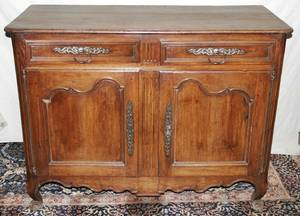 071009 COUNTRY FRENCH WALNUT COMMODE H43 W57 D26