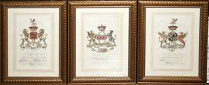 071056 ENGLISH PRINTS COAT OF ARMS EIGHT 22x16