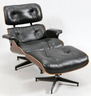 EAMES FOR HERMAN MILLER CHAIR  OTTOMAN