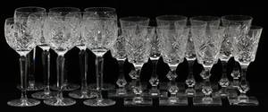 WATERFORD  OTHER CUT CRYSTAL WINE GLASSES