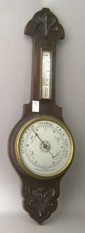 English oak barometer