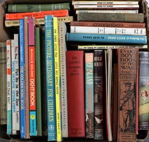 1 BOX LOT OF HARD BOUND BOOKS