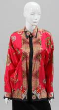GIANNI VERSACE PRINTED SILK BLOUSES TWO