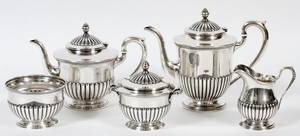 S KIRK  SON STERLING TEA  COFFEE SET FIVE PIECES
