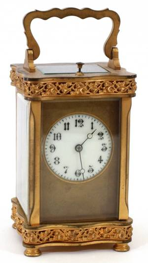 FRENCH BRONZE CARRIAGE CLOCK EARLY 20TH C