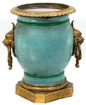 FRENCH BRONZEMOUNTED PORCELAIN JARDINIRE