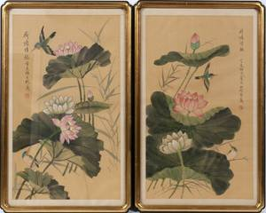 CHINESE PAINTINGS ON SILK TWO