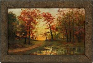 IN THE MANNER OF JASPER CROPSEY OIL ON CANVAS