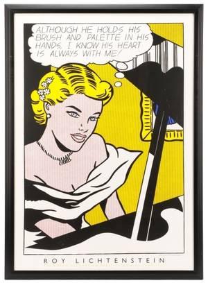 Roy Lichtenstein Girl At Piano Serigraph