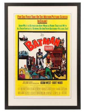 1966 Batman Motion Picture One Sheet Movie Poster