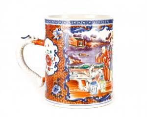 18th Century Chinese Export Mandarin Palette Mug
