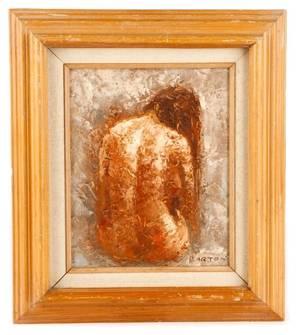 Edward Barton Seated Female Nude Signed