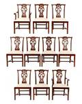 Set of 10 Maitland Smith Dining Chairs