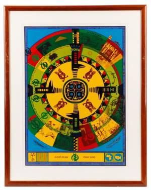 John T Riddle Gods Plan Serigraph 1982