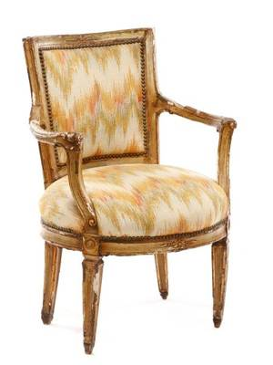 Italian Neoclassical Style Fauteuil 18th C