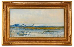 Arthur Vidal Diehl Marsh Oil Painting Signed