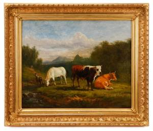 Victor De Grailly Pastoral Landscape 1861