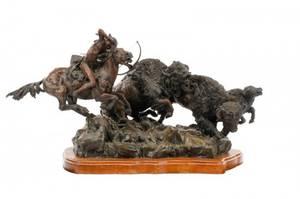 Lorenzo Ghiglieri Signed Bronze Figural Sculpture