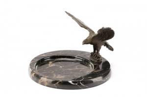 Figural Bronze And Marble Vide Poche