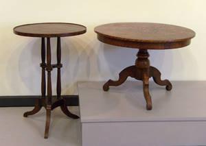 English mahogany candlestand