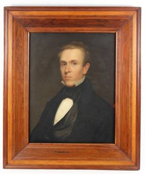 19th C British School Portrait of Man in Tuxedo