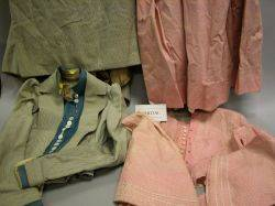Large Group of Victorian Ladys Dresses Clothing and Accessories