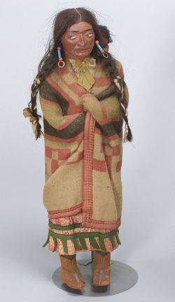 Large Skookum Indian Woman with Baby