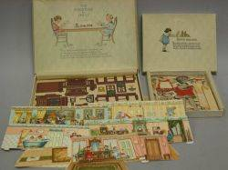 Boxed Sets of Toy Furniture for Dolly and Paper Dollies