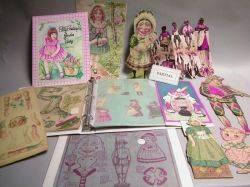 Box Lot of Paper Dolls and Ephemera