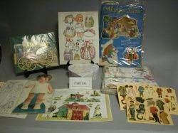 Mixed Lot of Paper Dolls and Ephemera