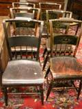 Set of Six Hitchcocktype Grained and Stencil Decorated Side Chairs