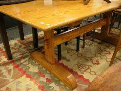 Provincial Pine Trestlebase Dining Table