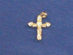 18kt White Gold and Diamond Cross Pendant