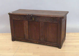 Regency oak blanket chest