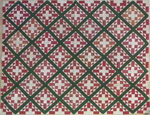 Pieced friendship quilt dated 1849