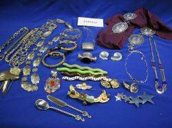 Assortment of Silver Designer and Costume Jewelry
